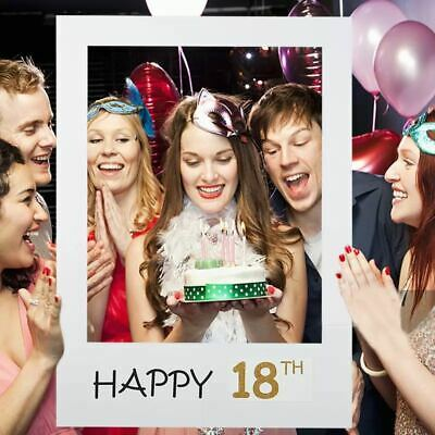 £3.26 • Buy Photo Booth Props Photo Frame Party Decor 18/21st/30/40/50/60th Birthday Party