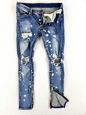 $ CDN59.26 • Buy Mnml Skinny Jeans 31 Tall Stretch Denim Distressed Ankle Zippers Button Fly