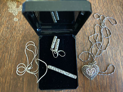 $ CDN27.22 • Buy Vintage Necklaces MARKED 925 STERLING SILVER  Jewelry Lot Mm