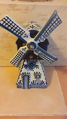 £15 • Buy Vintage Delft Hand Painted Ceramic Windmill Music Box Holland *FREE POSTAGE*