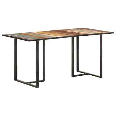 AU263.99 • Buy VidaXL Dining Table 160cm Solid Reclaimed Wood Wooden Restaurant Furniture