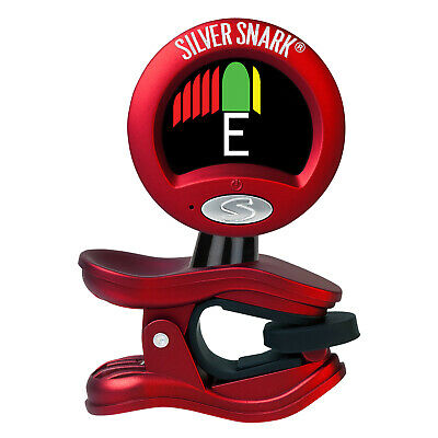 $ CDN25.16 • Buy Snark SIL-1 Silver Clip-On Chromatic Guitar And Bass Tuner, Red