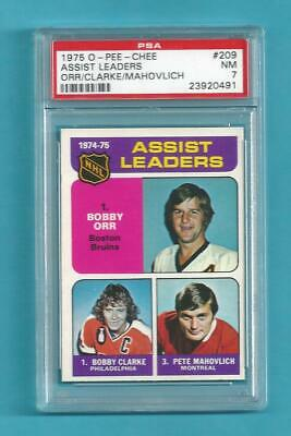 $48.03 • Buy 1975-76 OPC 209 Bobby Orr Assists Leader! Clarke Mahovlich! PSA 7 NM!