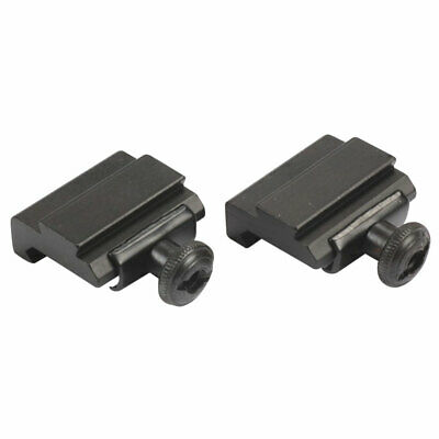 £4.99 • Buy 2pcs 20mm To 11mm Weaver Dovetail Adapter Picatinny Rail Rifle Scope Mount Hunt