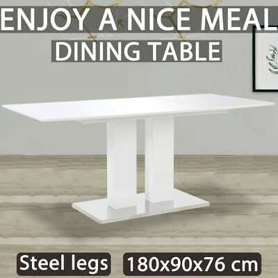 AU366.99 • Buy VidaXL Dining Table High Gloss White 180cm MDF Kitchen Dining Room Furniture