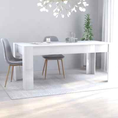 AU198.99 • Buy VidaXL Dining Table High Gloss White 180cm Chipboard  Kitchen Dinner Desk