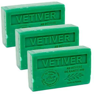 £9.95 • Buy 3 X 125g  Vetiver French Soaps - With Shea Butter - Savon De Marseille