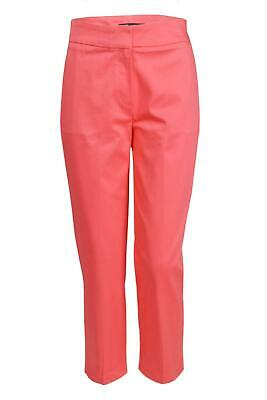 £16.95 • Buy Ex M&S Marks And Spencer Ladies Coral Pink 3/4 Length Crop Trousers With Stretch
