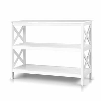 AU92.60 • Buy Artiss Wooden Storage Console Table - White