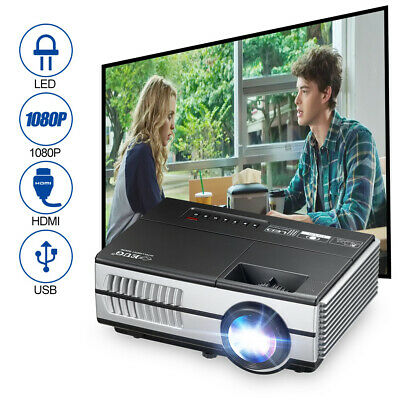 AU149.99 • Buy Portable Mini Home Theater LED Video Projector HD 1080p Outdoor HDMI USB 3000lms