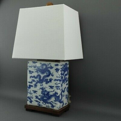 £280 • Buy 2 X Ralph Lauren Chinese Porcelain Dragon Blue & White Meredith Table Lamps Pair