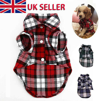 £5.08 • Buy Pet Cat Dog Plaid Shirts Clothes Apparel Puppy Chihuahua Coat Summer Outfit Top