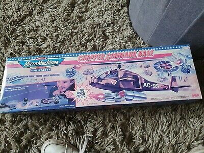 £20 • Buy Boxed Vintage Micro Machines Military Copter Chopper Command Base  Playset