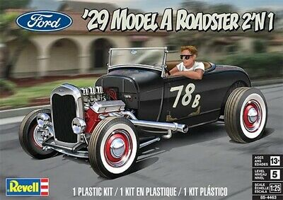 £33.99 • Buy Revell 4463 1:25th Scale Ford '29 Model A Roadster 2'n1 New For 2021