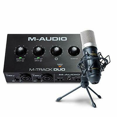 $180.61 • Buy M-Audio Recording Streaming And Podcasting Bundle – M-Track Duo USB Audio Int...