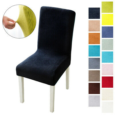 AU6.49 • Buy Dining Chair Covers Spandex Seat Covers Stretch Washable Wedding Banquet Party