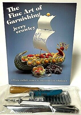 £10.99 • Buy The Fine Art Of Garnishing Book By Jerry Crowley With Garnishing Tools