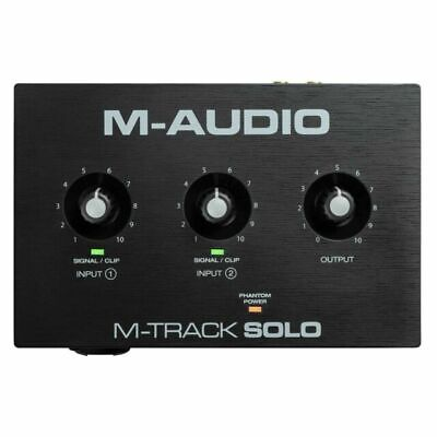 $50 • Buy M-Audio M-Track Solo 2-Channel USB Audio Interface