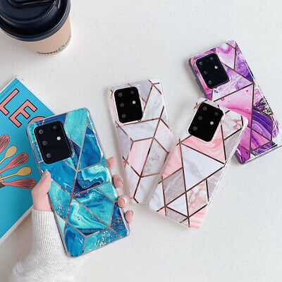 AU9.98 • Buy For Samsung S21 S20 Ultra S10 S8 S9 Plus Marble Silicone TPU Soft Case Cover