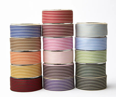 £1.99 • Buy May Arts 38mm Striped Grosgrain - Price Per Metre Or On A 27.4m Roll
