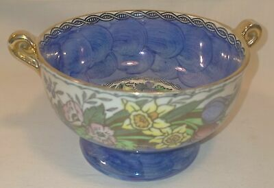 £9.99 • Buy Vintage Maling Small Blue Lustre Ware Bowl/Trinket Dish In Good Condition