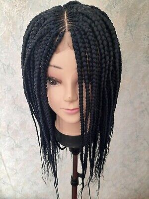 £42 • Buy Braided Lace Wig,with Little Ghana Weaving Cornrow Short Hair Wig