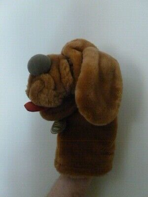 £14 • Buy WRINKLES THE DOG HAND PUPPET SOFT TOY Big Red Tongue Ganzbros 1984