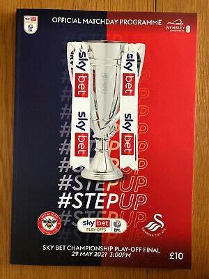 £12.99 • Buy Sky Bet Championship Play Off Final Brentford V Swansea 29 May 2021 Programme
