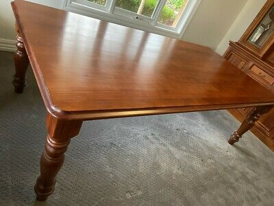 AU500 • Buy Dining Table And Eight Chairs. 2400 X 1200. Solid Polished Wood. Excellent!
