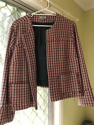 AU30 • Buy ASOS Co-Ord 2 Piece Jacket And Skirt UK22 Vintage Look Plaid Checkered Set