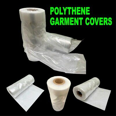 £5.98 • Buy Clear Garment Protection Cover Long Dress Suit Shirt Cloth Plastic Bag Poly Roll