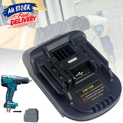 AU20.29 • Buy Convert Adapter Milwaukee18V Battery Battery Adapter Compatible With Makita Tool