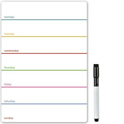£6.95 • Buy A5 Magnetic Weekly Planner, A4 Dry Wipe Fridge Meal Planner Calendar To Do List