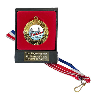 £6.99 • Buy Sea Fishing 40mm Emperor Sports Medal (A) Boxed +Ribbon ENGRAVED FREE