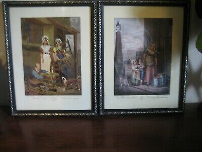 £30 • Buy 2 Vintage Cries Of London Framed Prints  & Old Chais TO Ment Byr- F. Wheatley RA