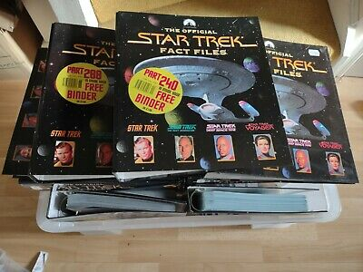 £12.50 • Buy The Official Star Trek Fact Files X19 Folders  - Almost Complete