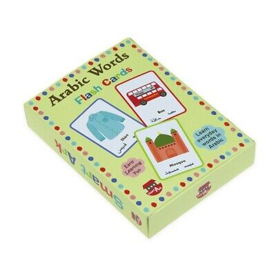 £9.43 • Buy Arabic Words Educational Flash Cards,  Games For Kids