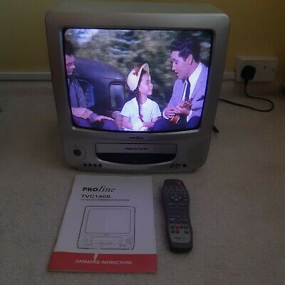 £69.95 • Buy Proline 14 Combi TV Video CRT VHS  Retro Gaming Display VCR Grey,w/Remote,Tested