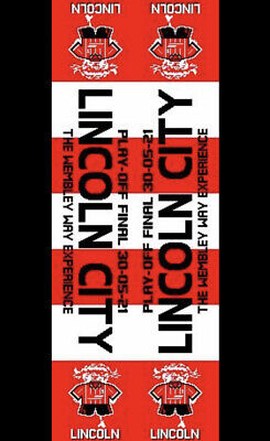 £10.99 • Buy Lincoln City Play Off Final Scarf. Dated. Red & White.