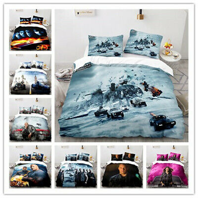 £27.95 • Buy Quilt Cover Pillowcase Bedding Set Single Double Child Gift Fast And Furious