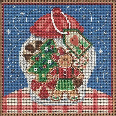 $12.99 • Buy Mill Hill 2021 Winter Series Buttons & Beads Cross Stitch Kit ~ Cookie Jar ~