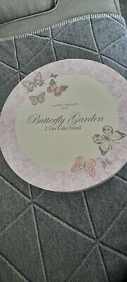 £20 • Buy LAURA ASHLEY Butterfly Garden 2 TIER CAKE STAND - Unused Boxed