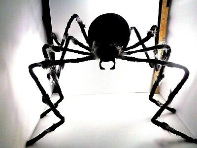 $ CDN12.83 • Buy Halloween Decoration Large Outdoor Hairy Black White Spider NEW Poseable 4' Wide