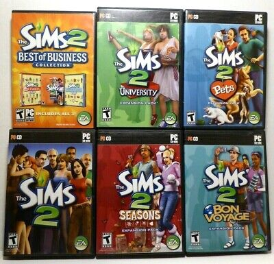 £43.87 • Buy Sims 2 Collection Expansions: University, Pets, Bon Voyage, Seasons, Business
