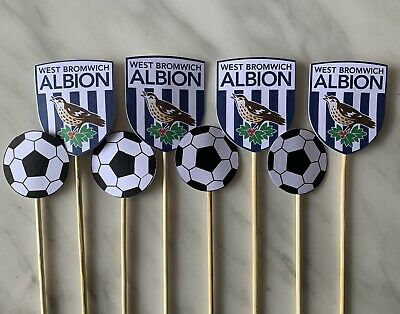 £3.50 • Buy West Bromwich Albion Cupcake Toppers X8 WBA ⚽️🏆🔥 Baggies