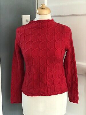 £40 • Buy N Peal 100% Cashmere Womens Red Jumper Size Small
