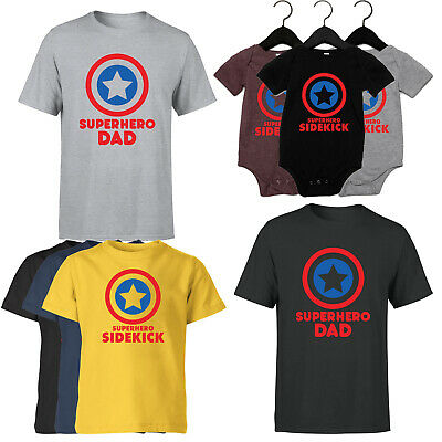 £8.99 • Buy Superhero Dad Mens Kids T Shirt Fathers Day 2021 Gift For Dad Baby Funny Tee Top