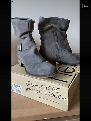 £13 • Buy Next Grey Slouch Suede Ankle Boots - Size 6