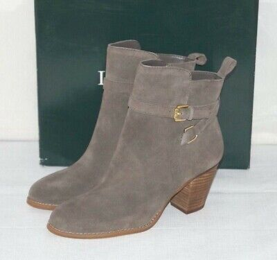 $69.99 • Buy NIB Authentic RALPH LAUREN MACIE Taupe Suede Ankle Boots Size 9 M