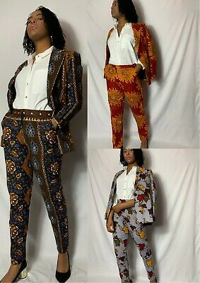 £42.99 • Buy .African Print Women's Blazer And Trouser Suit Summer Occasion Party Workwear